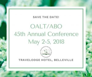 2018 OALT/ABO Save the Date